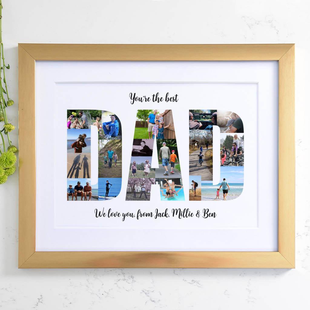 Personalised Photos Inside Dad Word Art